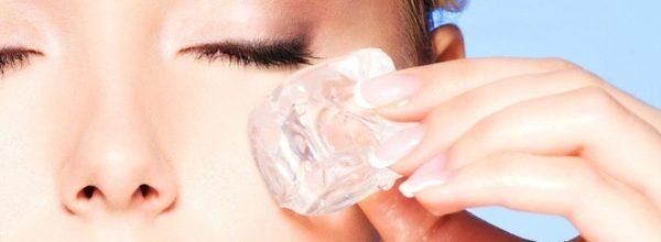 Применение льда для лица от морщин