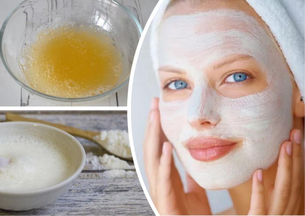 Картофельная маска с яичным желтком и молоком