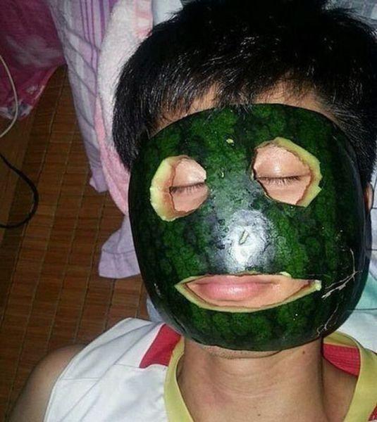 маска из арбуза