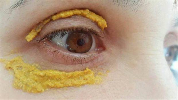 золотая маска вокруг глаз